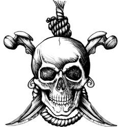 jolly roger skull vector image vector image