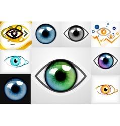 Mega collection of eye design templates vector image