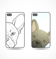 Set 2 covers ready-made templates for phone with vector image vector image