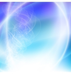 Smoke on a blue abstract background vector