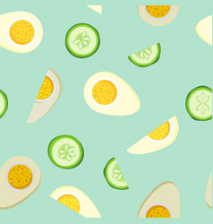 tiling seamless background with bright food vector image vector image