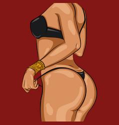 cartoon sexy woman body template vector image vector image