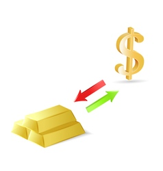 Conversion of dollars into gold vector