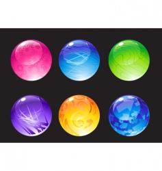decoration balls vector image