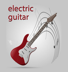 electric guitar musical instruments stock vector image