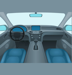 Inside car or auto interior vector