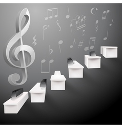 piano keys stairs vector image vector image