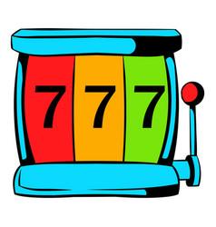 slot machine jackpot icon icon cartoon vector image