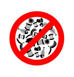 Stop littering ban garbage it is forbidden to vector