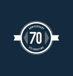 70 years anniversary celebrations retro circle vector