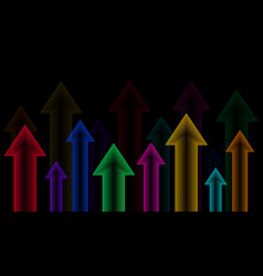 arrows up neon color gradient vector image