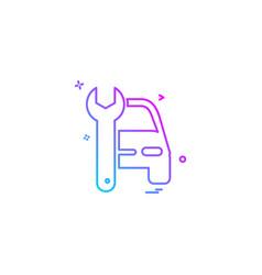 auto repair icon design vector image