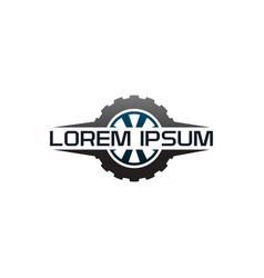 auto tire logo design concept template vector image