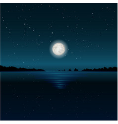 beautiful moon glade on lake water vector image