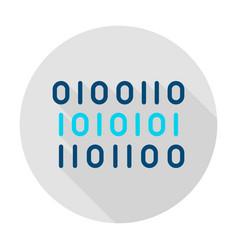 binary data circle icon vector image
