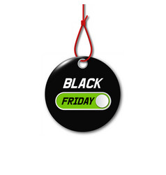 Black friday sale tag round banner vector