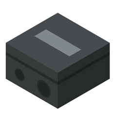 black sharpener icon isometric style vector image