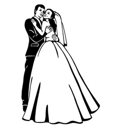 bridal couple vector image