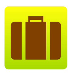 briefcase sign brown icon at vector image vector image