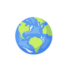 Cartoon flat globe isolated vector