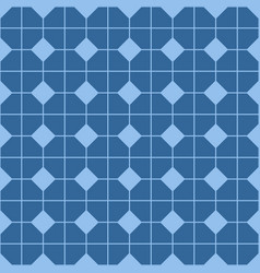 Checkered tile pattern blue floor or pastel vector
