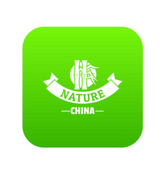 china nature icon green vector image