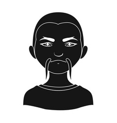 chinesehuman race single icon in black style vector image