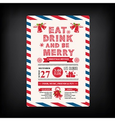 Christmas menu invite vector