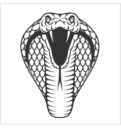 Cobra head - black and white vector image
