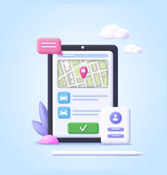 concept online car sharing service ordering vector image