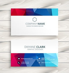 Creative colorful business card vector