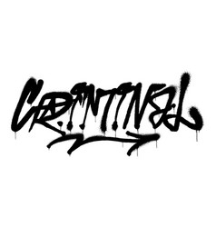 Criminal graffiti vector