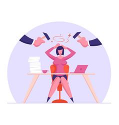 Deadline problem at work concept depressed and vector
