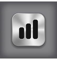 Diagram icon - metal app button vector image