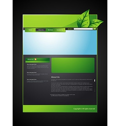 eco web layout vector image