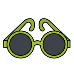 elegant sunglasses isolated icon vector image