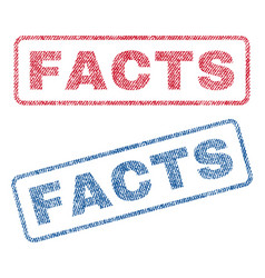 facts textile stamps vector image