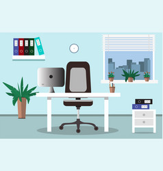 flat office concept vector image