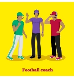 Football Coach Concept Flat Design vector