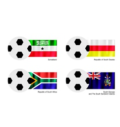 Football with Somaliland South Ossetia Flag vector