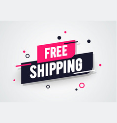 free shipping shop now advertisement label vector image