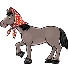 Funny horse in headscarf vector