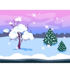 Game Background Winter Forest vector