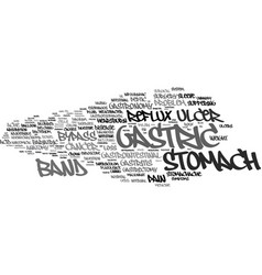 gastric word cloud concept vector image