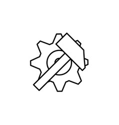 gear icon factory gear vector image