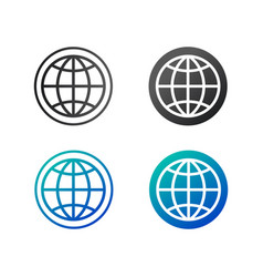 globe icon in circle flat design isolated on vector image
