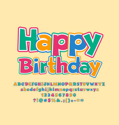 Greeting card happy birthday for kids vector