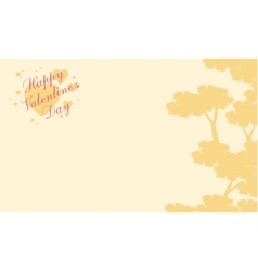 Greeting card valentine with tree background vector image