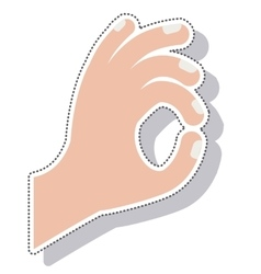 Hands language signs isolated icon vector