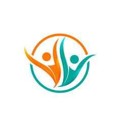 health people for medical symbol concept design vector image